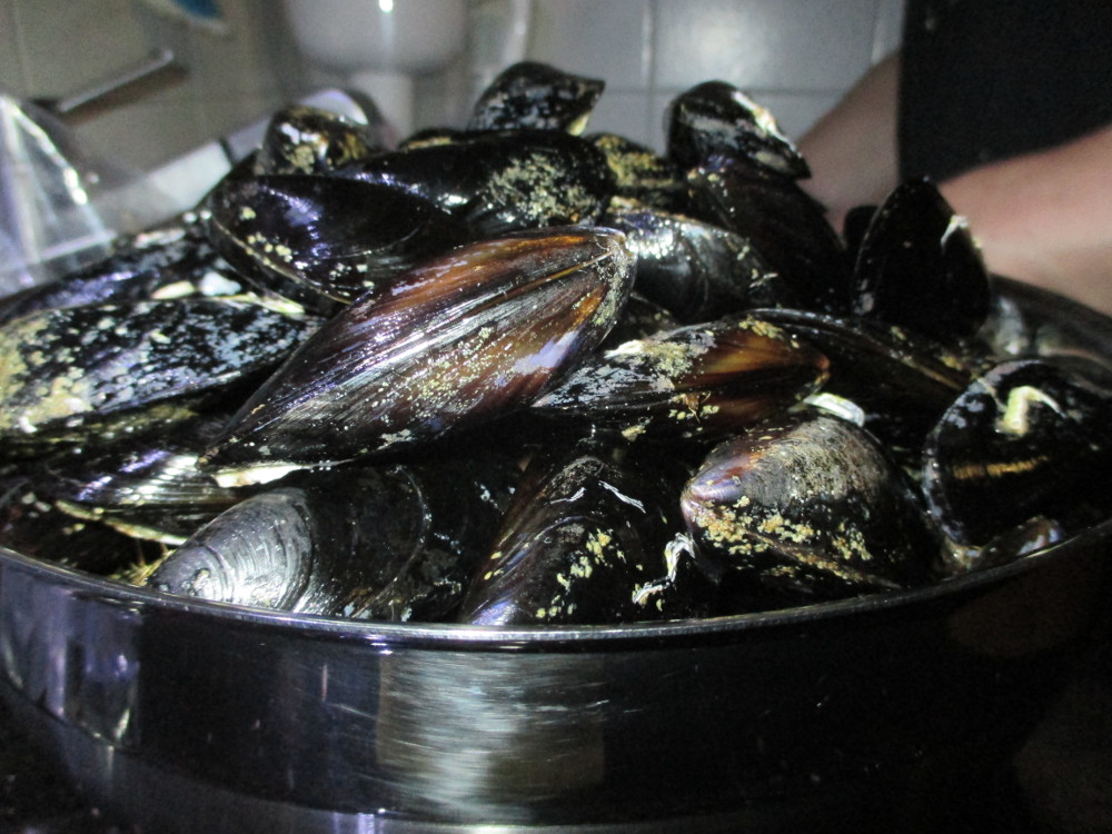 Delicious mussels.