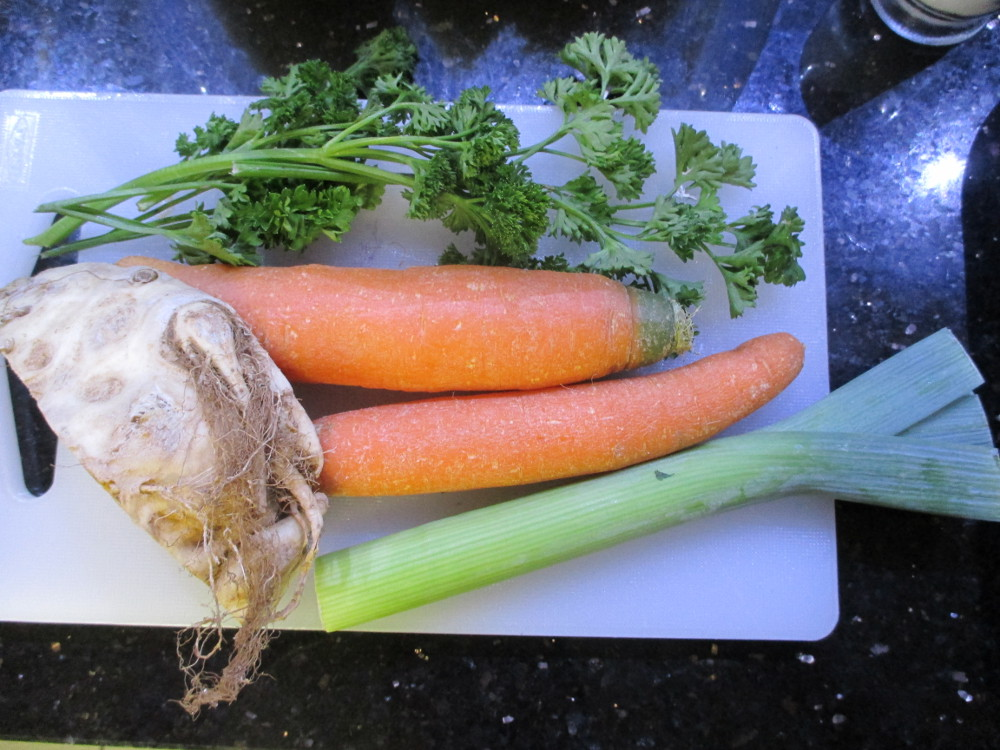 Vegetables (Carrots, celery, garden leek, parsley